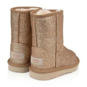 UGG Girls Classic Short II Glitter Boot